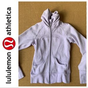 Lululemon scuba jacket w/ high ruched neck collar